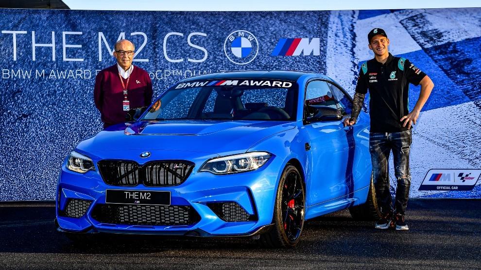 QUARTARARO RECIBIÓ UN BMW M2 CS DE US$ 100 MIL POR SER «POLEMAN» DEL MOTOGP